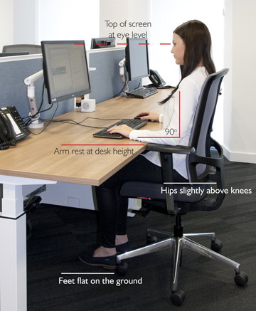 Seating desk position