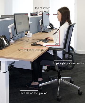 Seating desk position