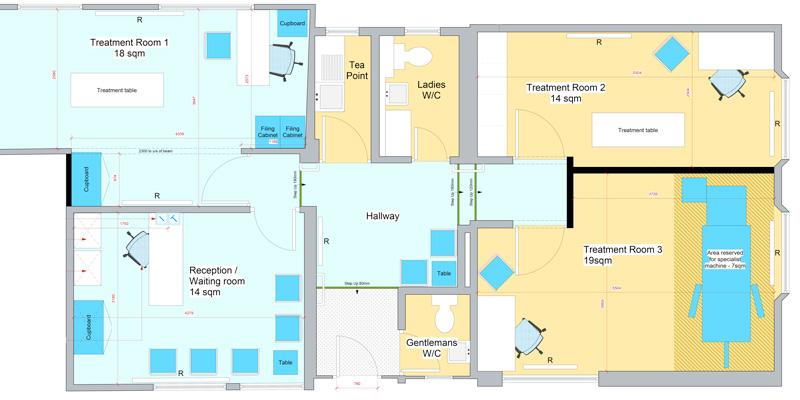 Berkhamsted osteopaths layout