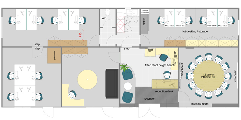challenge consulting office layout