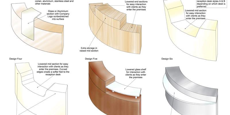 Carpeo reception desk designs
