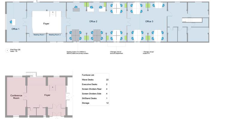 F2F office floor plan