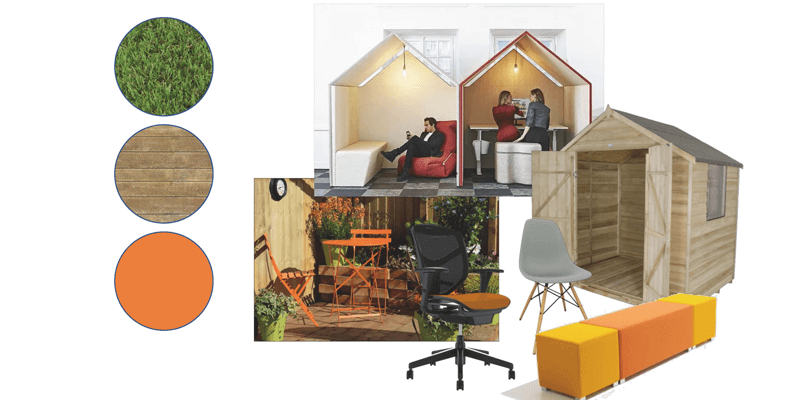 Red Sky studio office design moodboard
