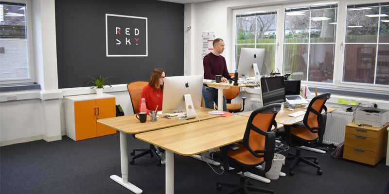 Red sky studio office design berkhamsted